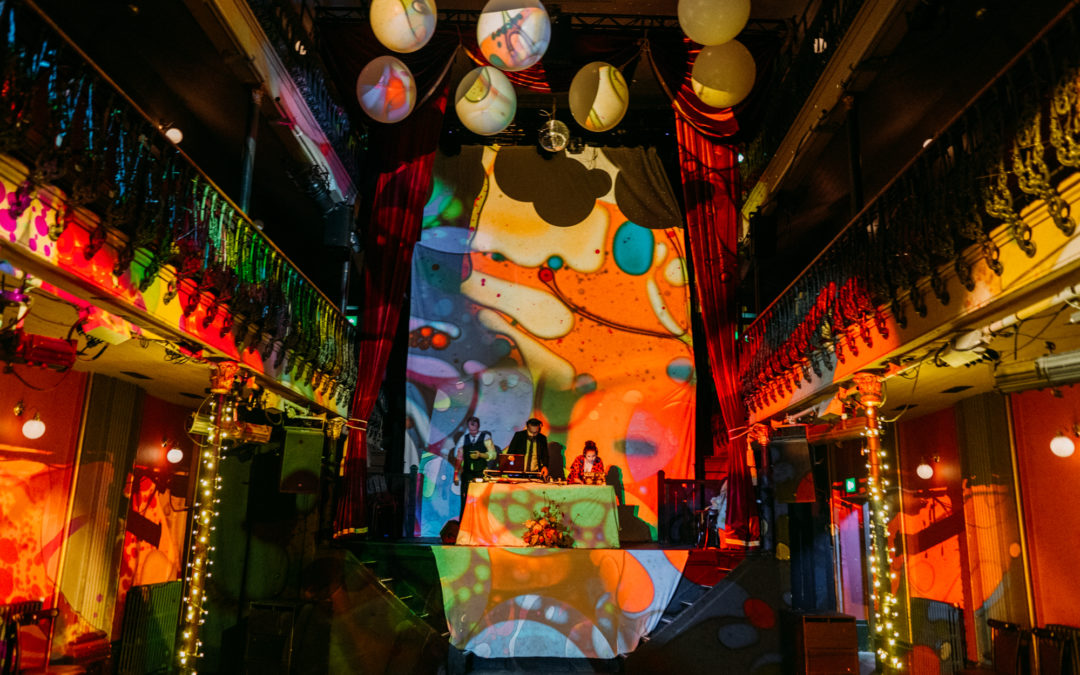 Psychedelic Hoxton Hall wedding | Emily & Jacob's rave wedding