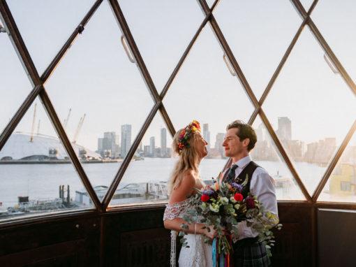 Colourful Trinity Buoy Wharf Wedding | Lucy & James part 2!